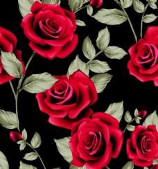 大牌玫瑰花小碎花数码印花图片