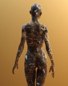 抽象人物背影图片