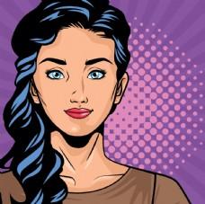 关爱女性人物漫画锻炼肌肉图片