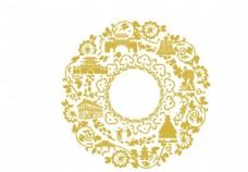 贵州地标圆形花纹底纹图片