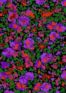 玫红小碎花图片