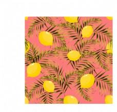水果柠檬素材数码印花图片