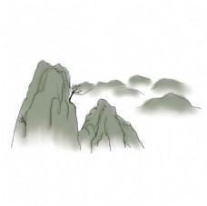 国潮山脉元素图片