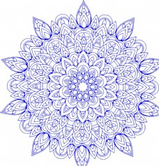 高清透明青花瓷花纹图片