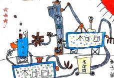 儿童简笔画子航科学之环保倡导图片