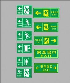 安全通道标识紧急出口标识图片