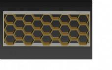 六角格柜子图片