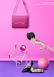 立体女包海报设计图片