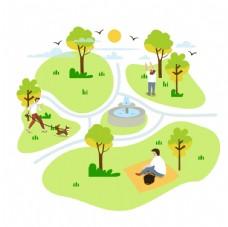 公园活动图片