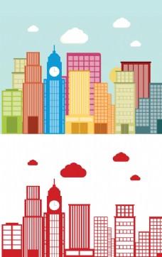 卡通城市高楼图片