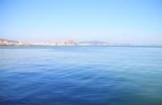 蓝色海洋背景海平面图片