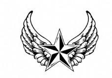 翅膀星星图片