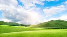 蓝天白云大草原图片