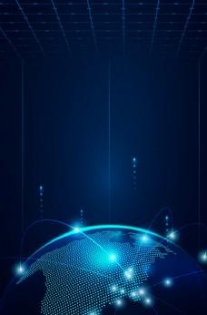科技未来线条背景海报素材图片
