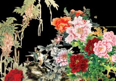 水墨花卉素材图片