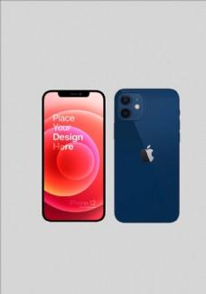 蓝色iphone12手机图片