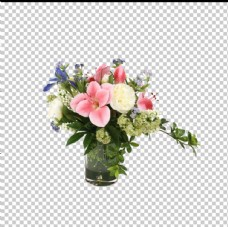桌花透明底花艺绿植摆件图片