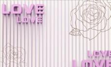 牡丹3D立体背景墙图片