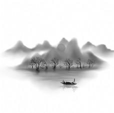 山水插画装饰图片