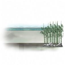 竹子古代围墙图片