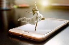 手机上芭蕾舞图片