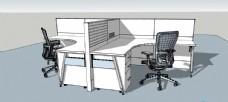 SU办公室模型素材图片