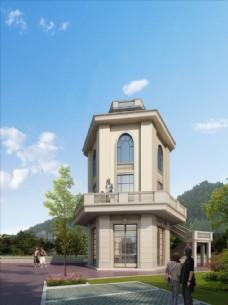农村灯塔建筑效果图图片