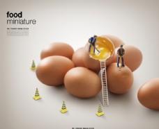 鸡蛋广告海报图片