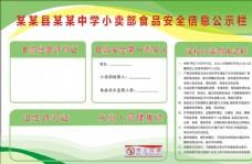 中小学小卖部食品安全信息公示栏图片