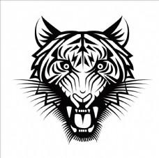 矢量老虎头像图片