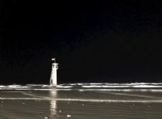 防城港白浪滩夜景
