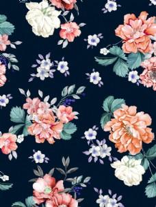 数码印花花卉图片