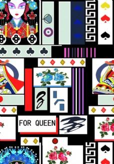 大牌扑克图片