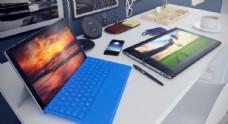 c4d办公桌桌面场景图片