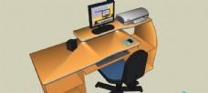 SU办公室家具模型图片