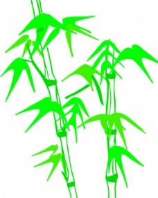 竹子矢量图片