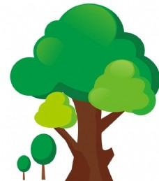 绿树矢量图片