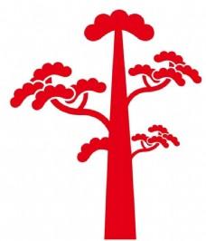 矢量松树图片