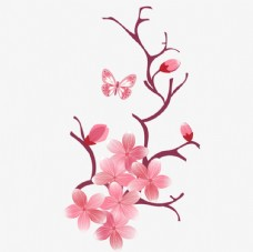 矢量桃花素材图片