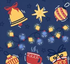 圣诞装饰物矢量图片
