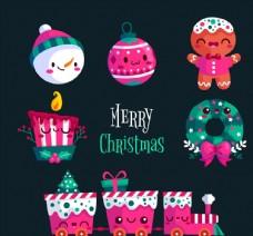 可爱表情圣诞物品图片