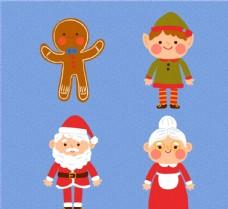 可爱圣诞节人物图片