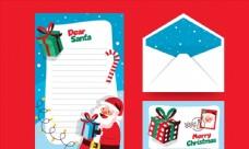 圣诞老人信纸和信封图片