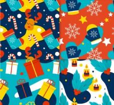 圣诞元素无缝背景图片