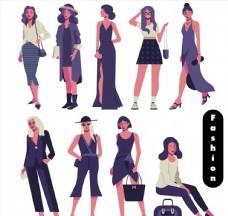时尚女郎设计图片