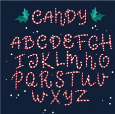 糖果大写字母图片