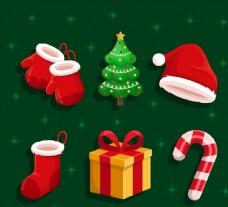 质感圣诞节元素图片
