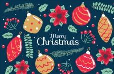圣诞节元素贺卡图片