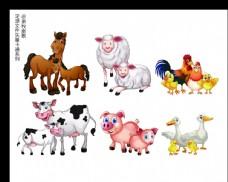 动物家禽卡通矢量AI源文件图片
