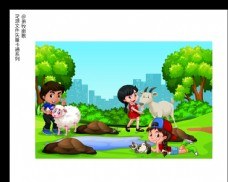 森林卡通矢量AI源文件图片